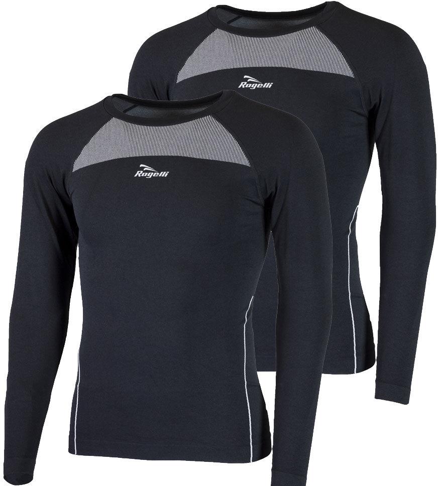 ROGELLI CORE 2-pak bielizna - koszulka termoaktywna długi rękaw, czarny 070.022 Rozmiar: L-XL,070.022