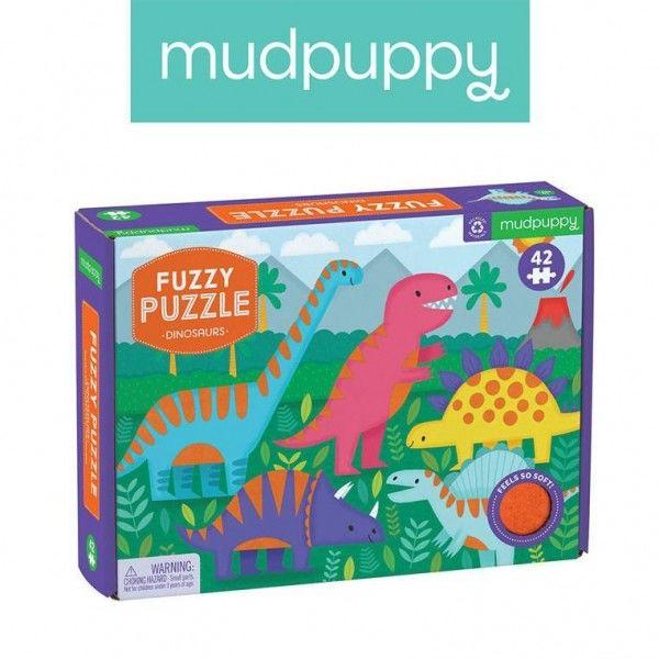 Mudpuppy Puzzle Sensoryczne z Miękkimi Aplikacjami Dinozaury 42 Elementy 3+