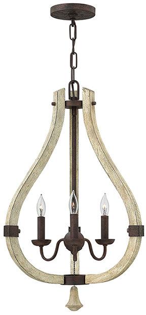 Żyrandol Middlefield HK/MIDDLEFIELD3 Hinkley drewniana oprawa w nowoczesnym stylu