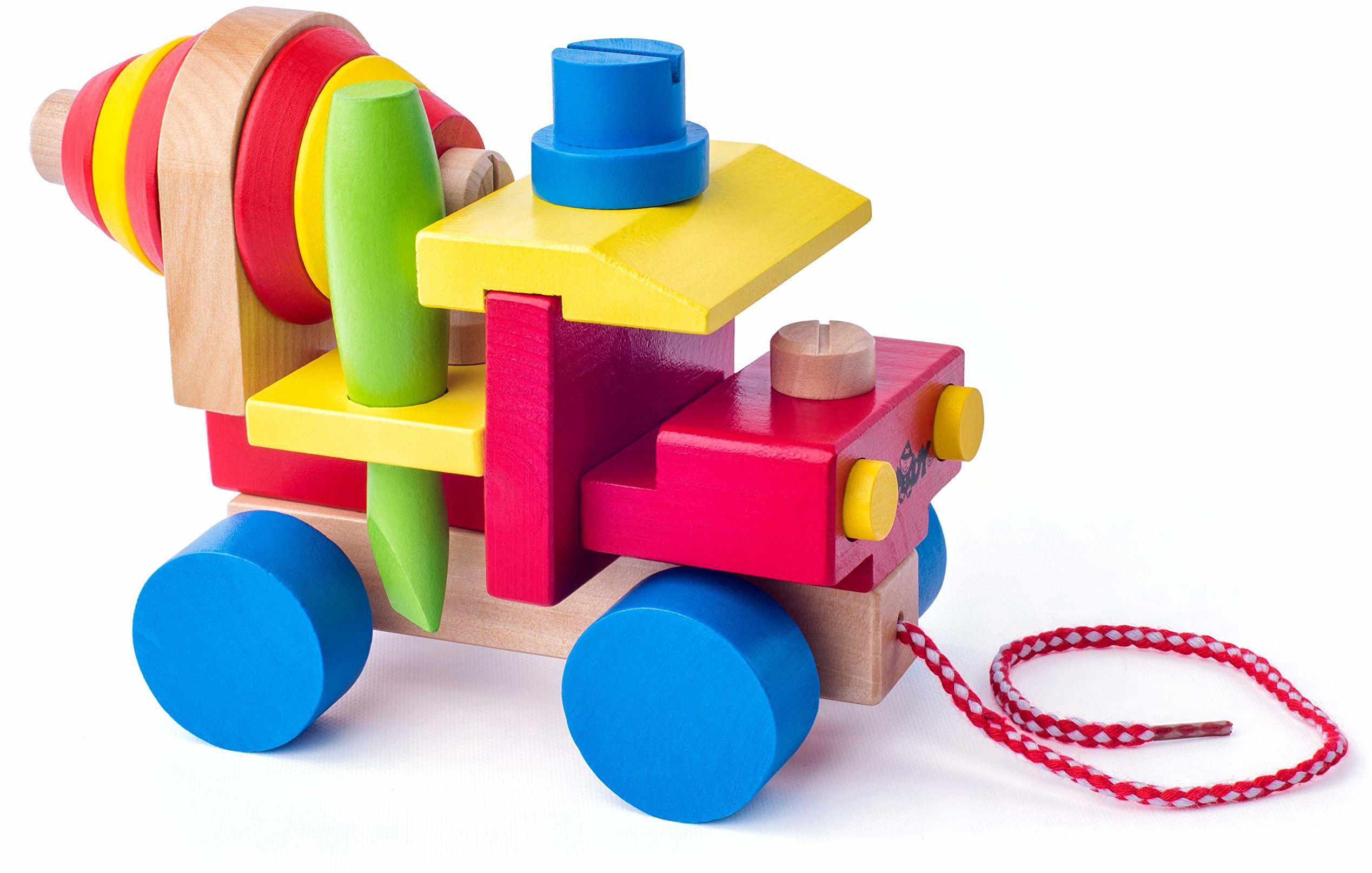 Woodyland 19 x 15 cm zabawki dydaktyczne zmontowany mikser cementowy