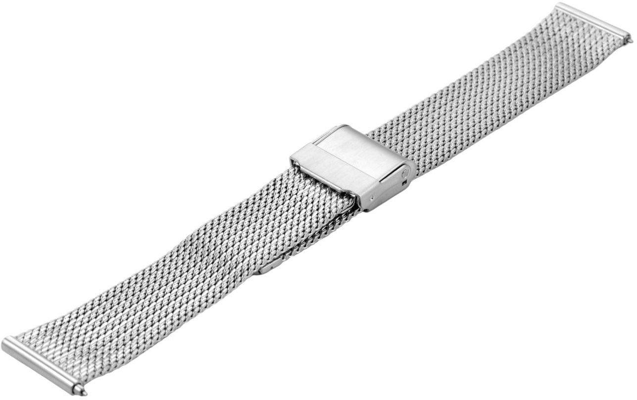 Bransoleta stalowa do zegarka 18 mm Bisset BM-104/18 Silver