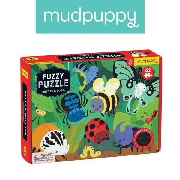 Mudpuppy Puzzle Sensoryczne z Miękkimi Aplikacjami Żuczki i Robaczki 42 Elementy 3+