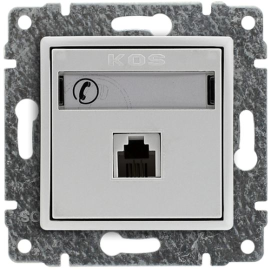 VENA Gniazdo telefoniczne pojedyncze RJ11 białe 510463