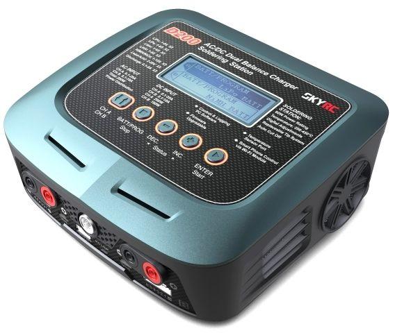 SkyRC D200 20A+10A 200W+100W Dual Power + Lutownica oryginalna ładowarka