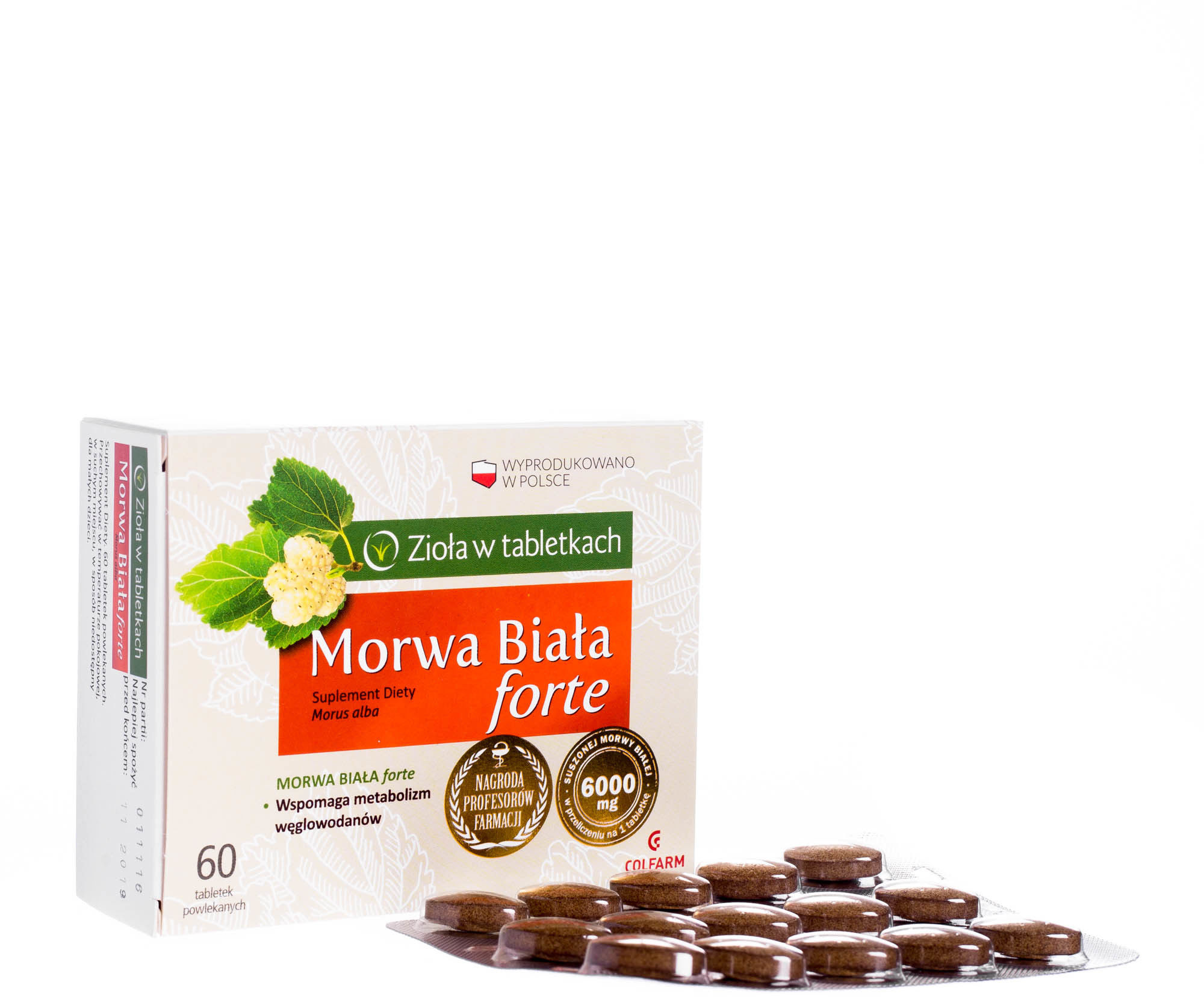 Morwa Biała Forte, 60 tabletek /Colfarm/