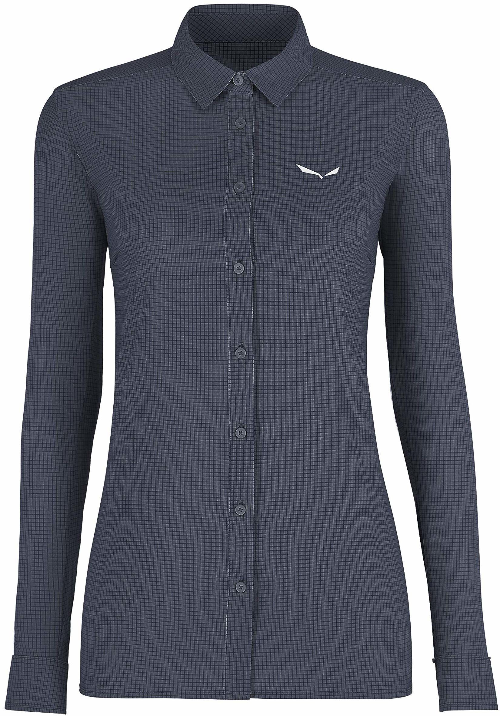 Salewa Puez Minicheck2 Dry W L/S SRT bluzki i T-shirty, Ombre Blue, 44/38