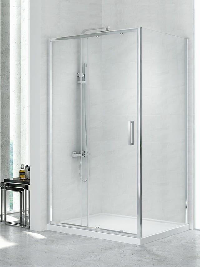 Kabina prysznicowa New Trendy Gold NEW CORRINA 120 x 90 , wys. 195 cm, szkło czyste 6 mm, D-0090A/D-0079B