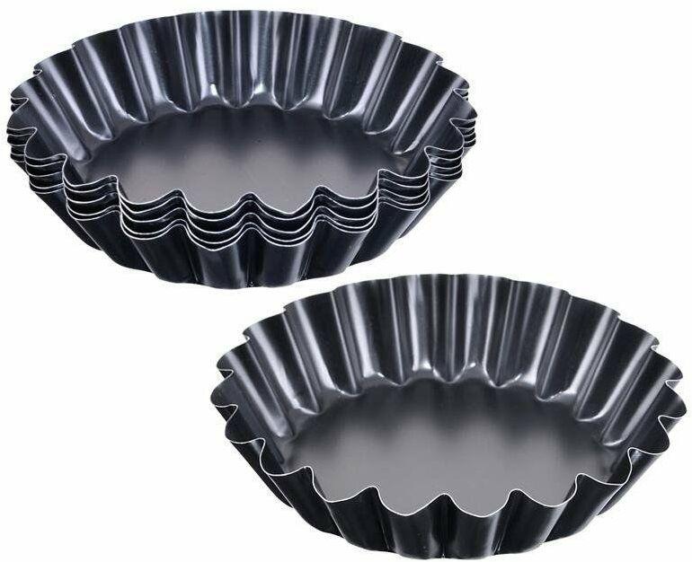 Forma do pieczenia tarty, foremka na tartaletki, tarte, mini tarty, babeczkę, komplet, 6 sztuk, 11 cm