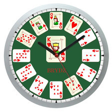 Zegar ścienny Sport Czas na Brydż #1