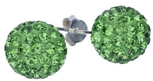 Srebrne kolczyki 925 kuleczki z kryształkami 2,40g