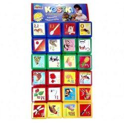 KOSTKI PRZEDSZKOLAKA KLOCKI 24 el. 4,5x4,5x4,5cm (NINA 00168)