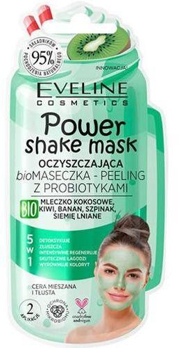 Eveline Power Shake oczyszczająca biomaseczka  peeling z probiotykami 10 ml