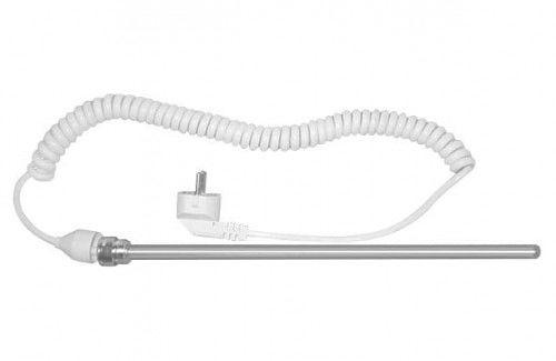 Grzałka elektryczna 700 W bez termostatu, kabel skręcony 1,2 m, BIAŁA