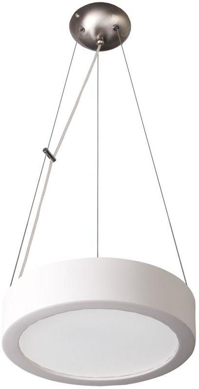 Lampex Atena 36 Biała 021/Z36 lampa wisząca nowoczesna okrągły kształt ceramiczna szklany klosz biała 2x60W E27 36cm