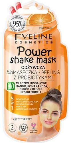 Eveline Power Shake odżywcza biomaseczka  peeling z probiotykami 10 ml