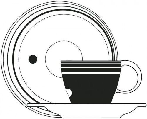 Filiżanka do kawy ze spodkiem Optical Casa Bugatti