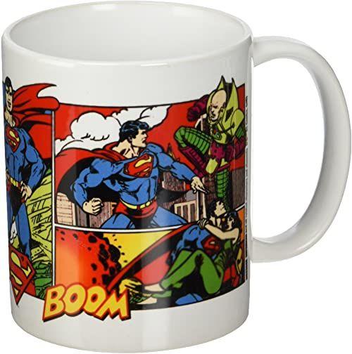 DC Comics Originals Superman komiksowy kubek ceramiczny, wielokolorowy