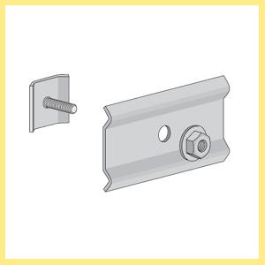 Uchwyt śrubowy do korytek siatkowych o bokach 60 i 105 mm Uchwyt śrubowy do korytek siatkowych o bokach 60 i 105 mm