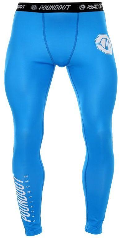 Poundout Legginsy męskie BASE niebieskie