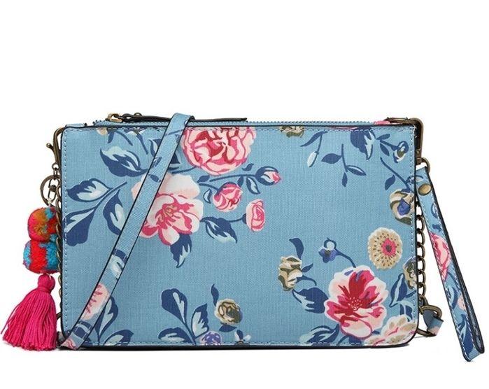 Mała torebka damska na ramię w kwiaty Betty