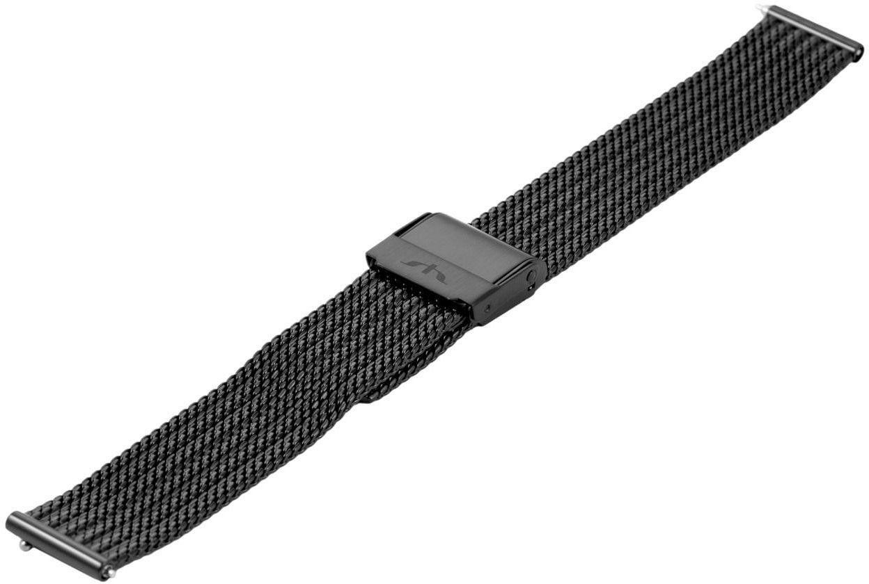 Bransoleta stalowa do zegarka 16 mm Bisset BM-105/16 Black