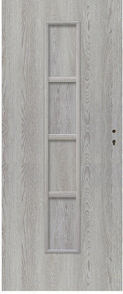 Drzwi pełne Olga 80 lewe dąb szary