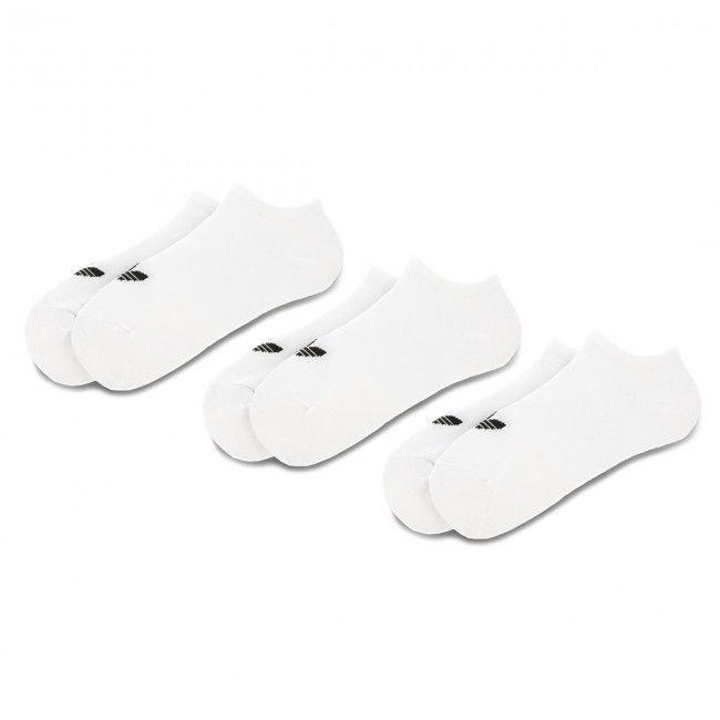 Zestaw 3 par niskich skarpet unisex adidas - Trefoil Liner S20273 White/White/Black