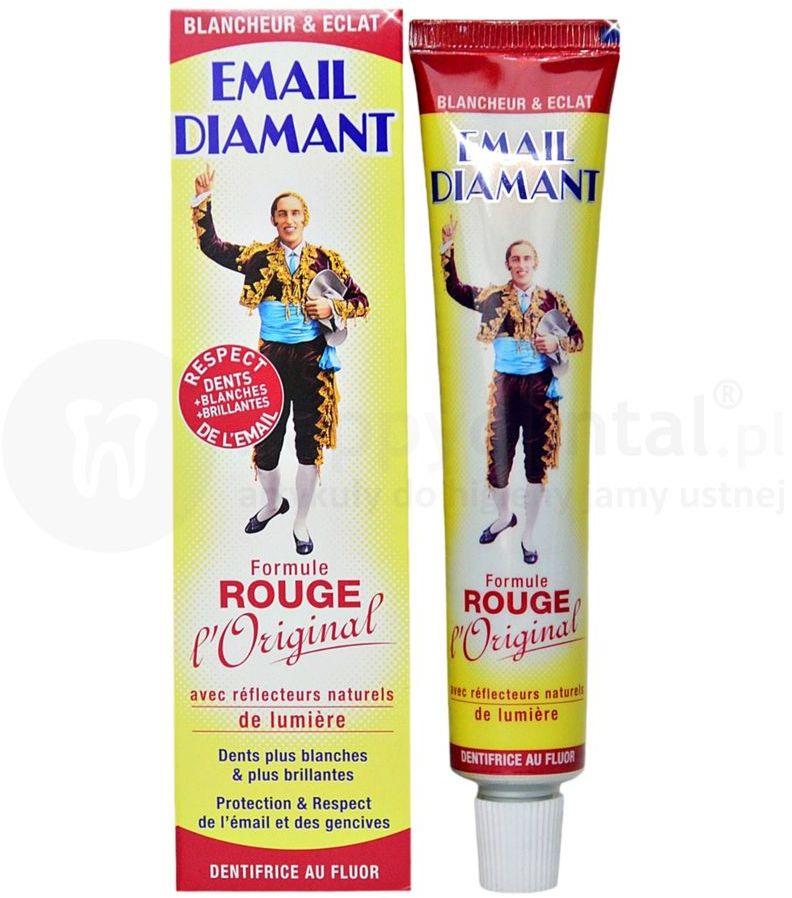 EMAIL DIAMANT Rouge Original 75ml wybielająca, czerwona pasta do zębów