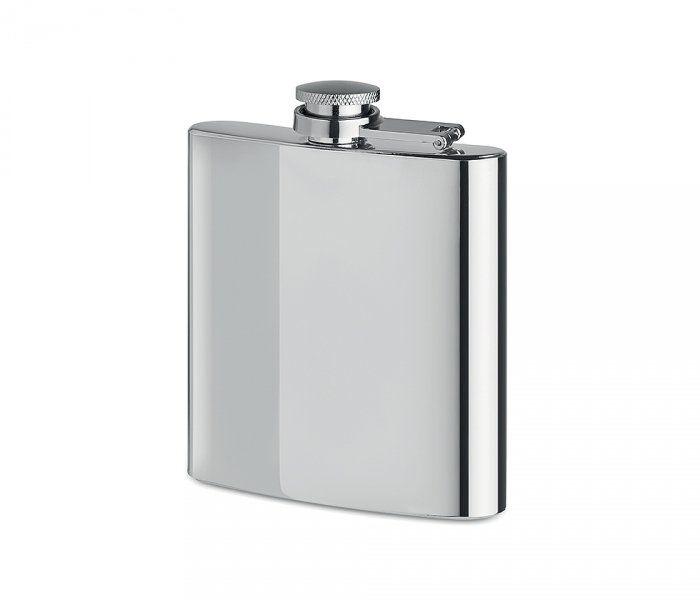 Piersiówka stalowa chrom 180 ml FLASKY (srebrny)