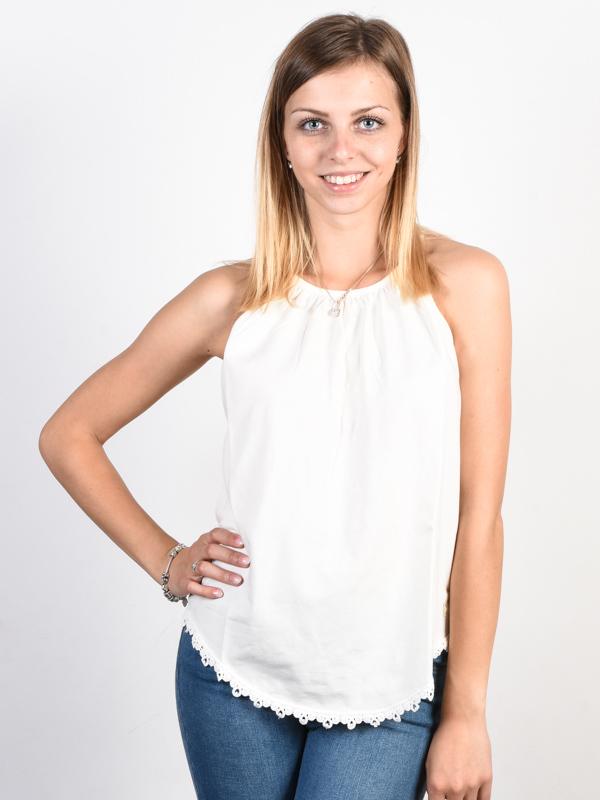 Picture Sagueo off white bawełniany podkoszulek damski - L