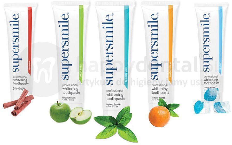 SUPERSMILE 119g wybielające pasty do zębów w różnych smakach - WYBIERZ ULUBIONY SMAK
