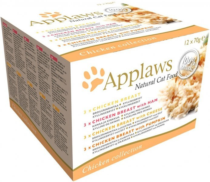 Applaws Multipack Chicken Selection puszek 4 smaki - 12x70g