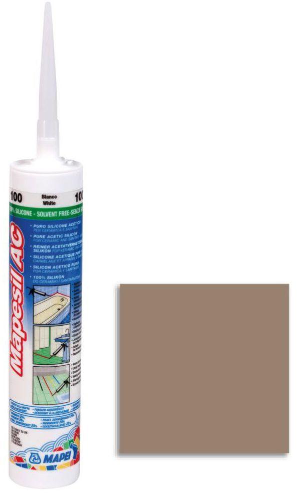Silikon sanitarny MAPESIL AC 142 310 ml Brązowy MAPEI
