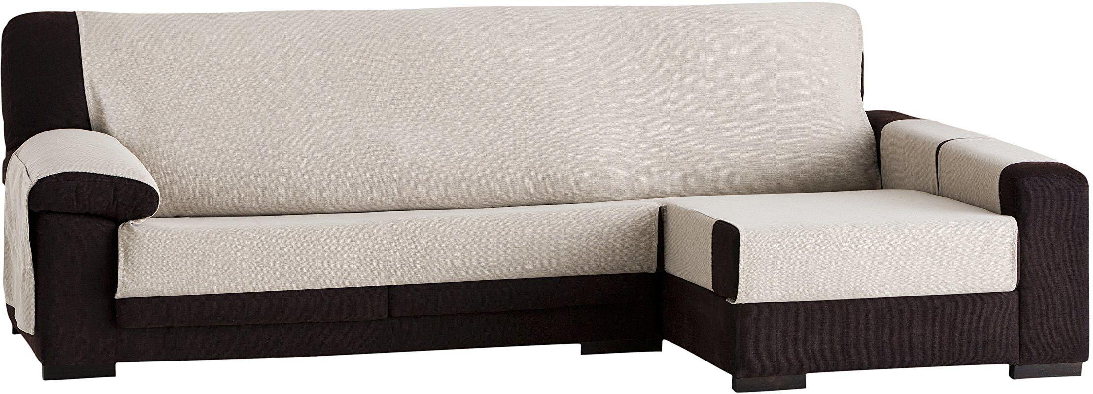 Eysa Constanza nieelastyczna narzuta na sofę, szezlongue, 290 cm, z przodu, bawełna, 01-len, 37 x 9 x 29 cm