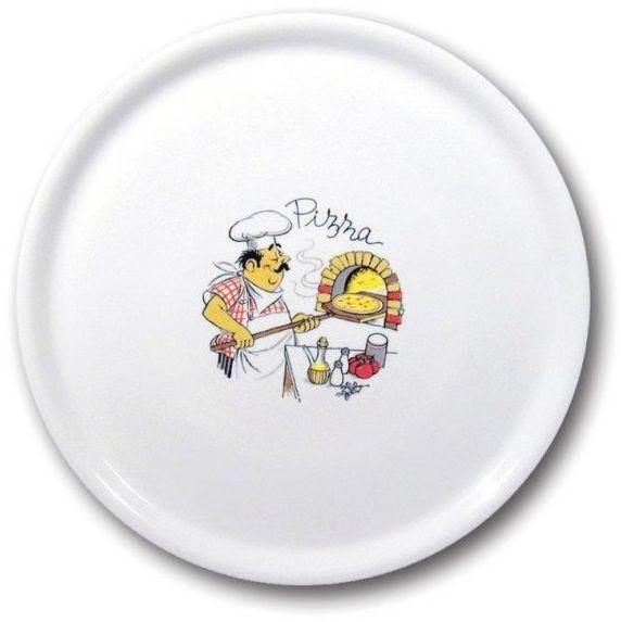 Talerz do pizzy porcelanowy dekorowany śr. 33 cm Speciale