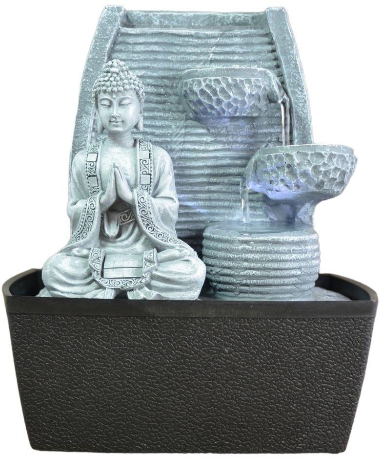 Fontanna wewnętrzna fontanna pokojowa Feng Shui mądrość oświetlenie LED 24 cm