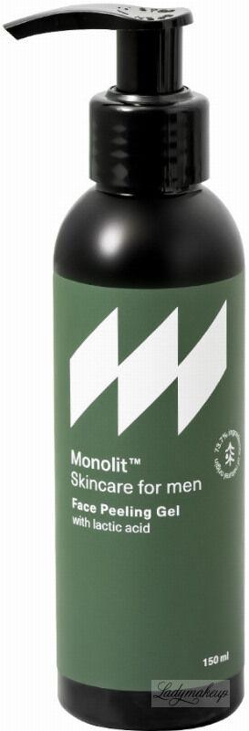 Monolit - Face Peeling Gel - Naturalny żel peelingujacy do mycia twarzy dla mężczyzn - 150 ml