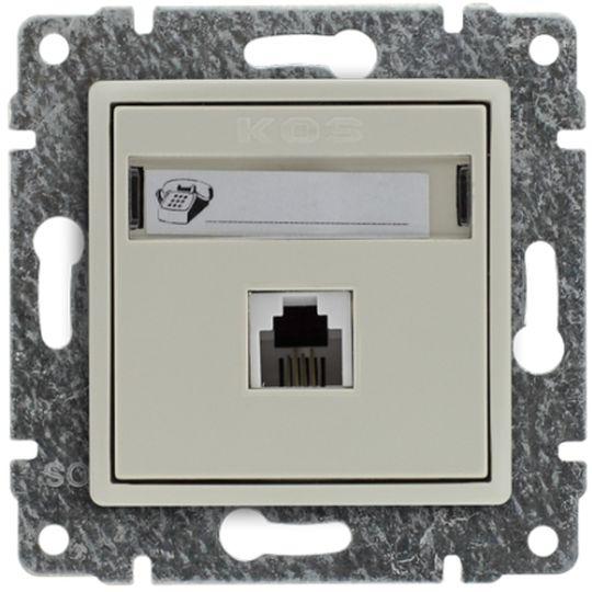 VENA Gniazdo telefoniczne pojedyncze RJ11 krem 510363