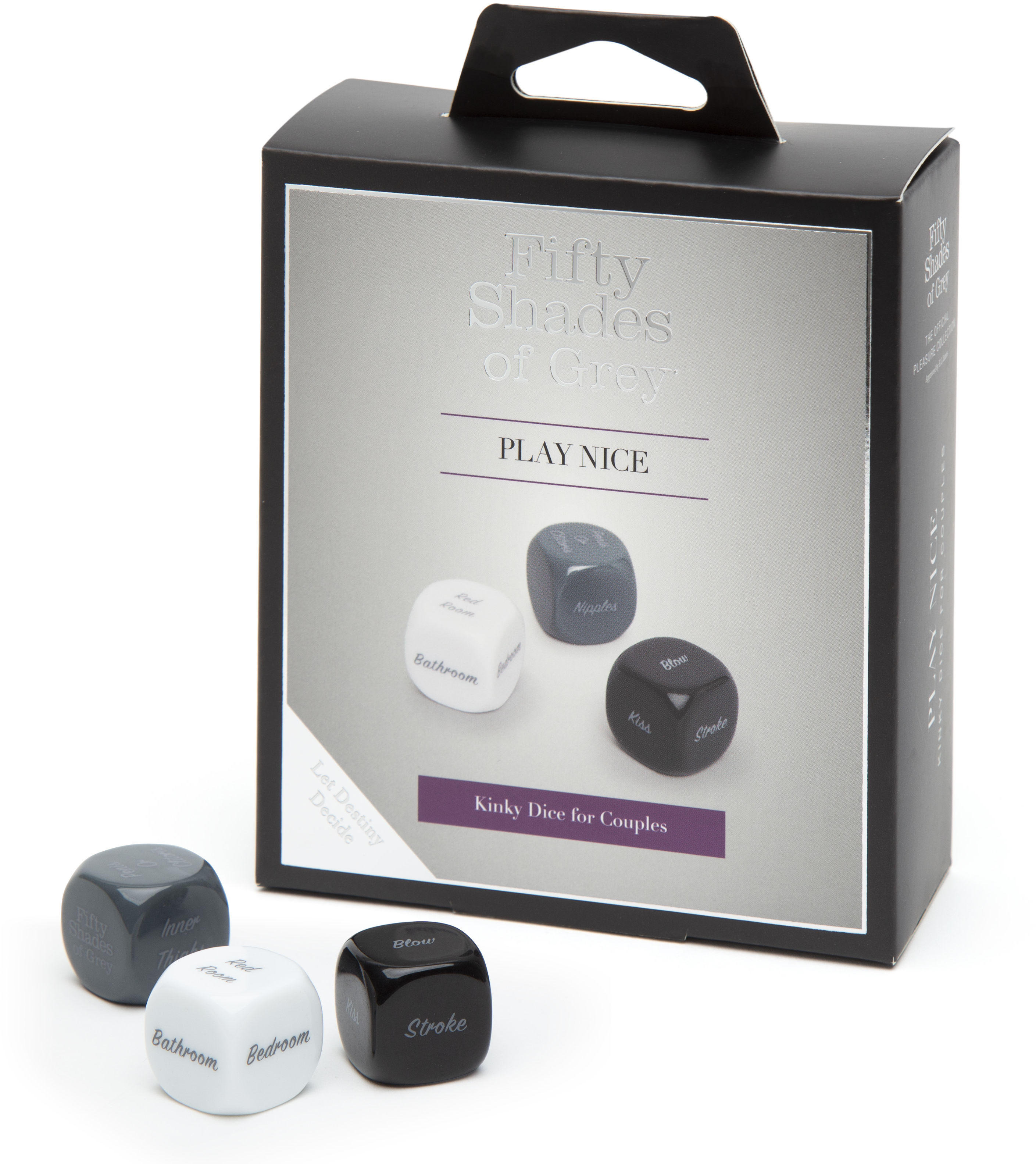 Fifty Shades of Grey Play Nice Kinky Dice for Couples