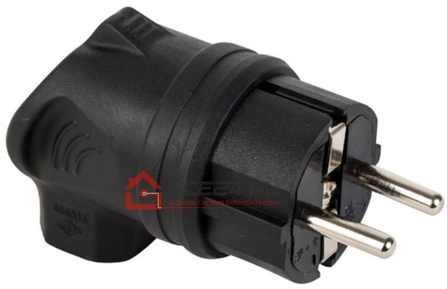 Wtyczka gumowa kątowa 230V IP44