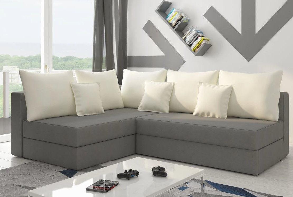 Nowoczesny narożnik PACO L ST funkcja spania sofa