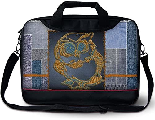 Luxburg luksusowa designerska torba na ramię z uchwytem na laptopa 13-calowego - sowa