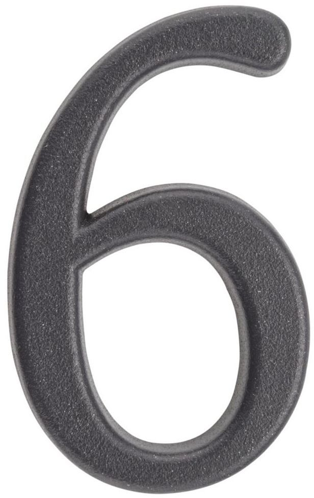 Cyfra 6/9 wys. 5 cm metalowa grafitowa