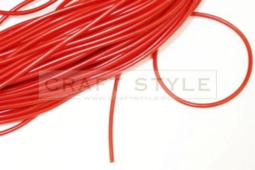 Rurka plastikowa elastyczna 3mm CZERWONA baza bransolety naszyjnika