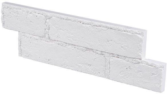 Płytka dekoracyjna gipsowa Stegu Cellar z fugą biała 0,48 m2