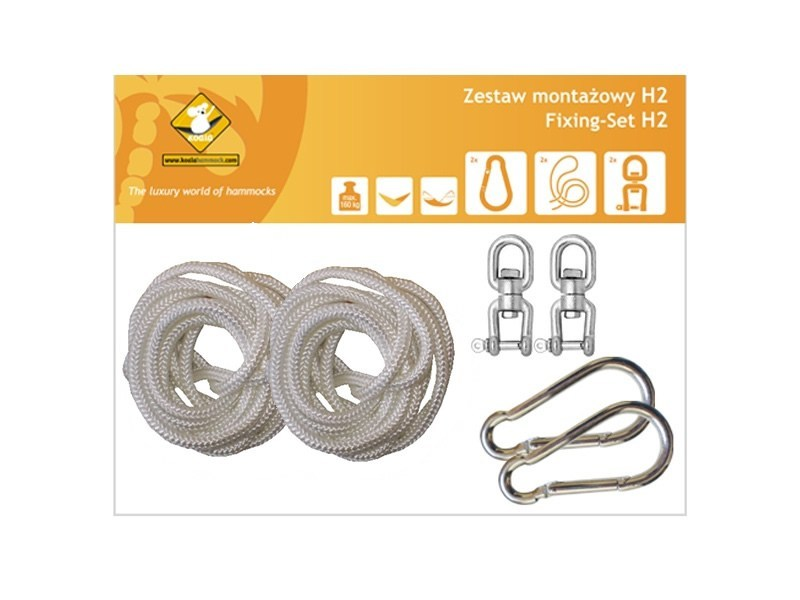 Zestaw montażowy H2 do hamaków, Biały koala/zh2