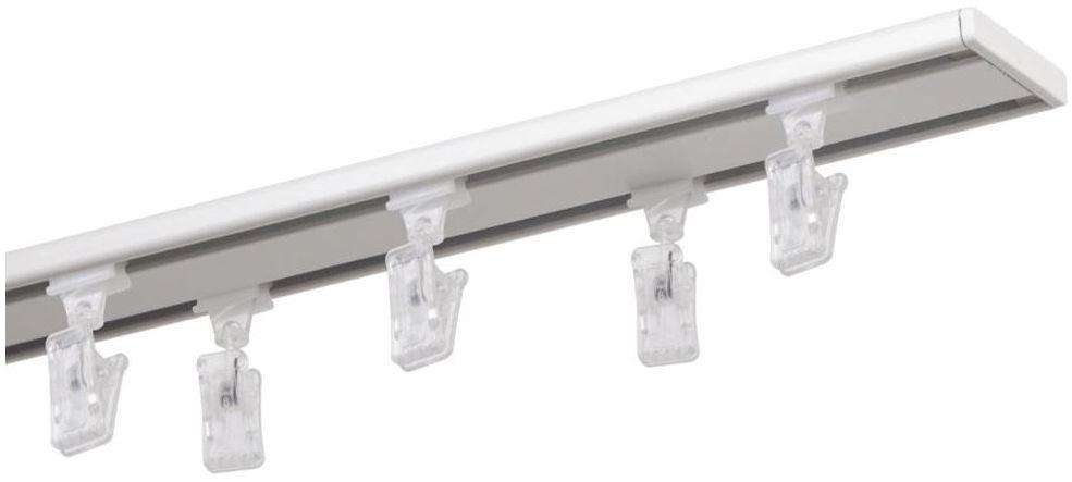 Szyna sufitowa 2-torowa SLIM 240 cm biała aluminiowa MARDOM