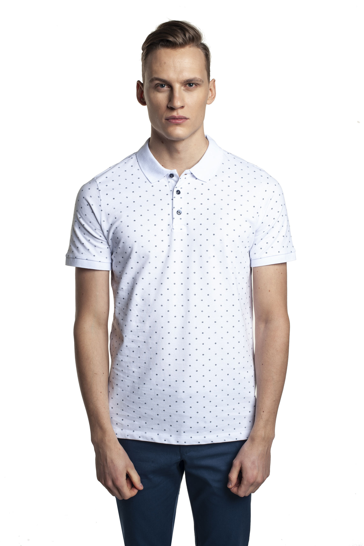 koszulka polo tennis ball biały
