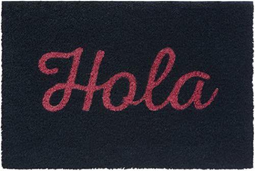 Premier Housewares Hola wycieraczka, czarna/czerwona, kokosowa, PCW, 40 x 60 x 2 cm