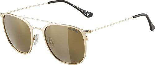ALPINA Unisex - Dorośli, ZUKU Okulary przeciwsłoneczne, gold matt/gold, One Size